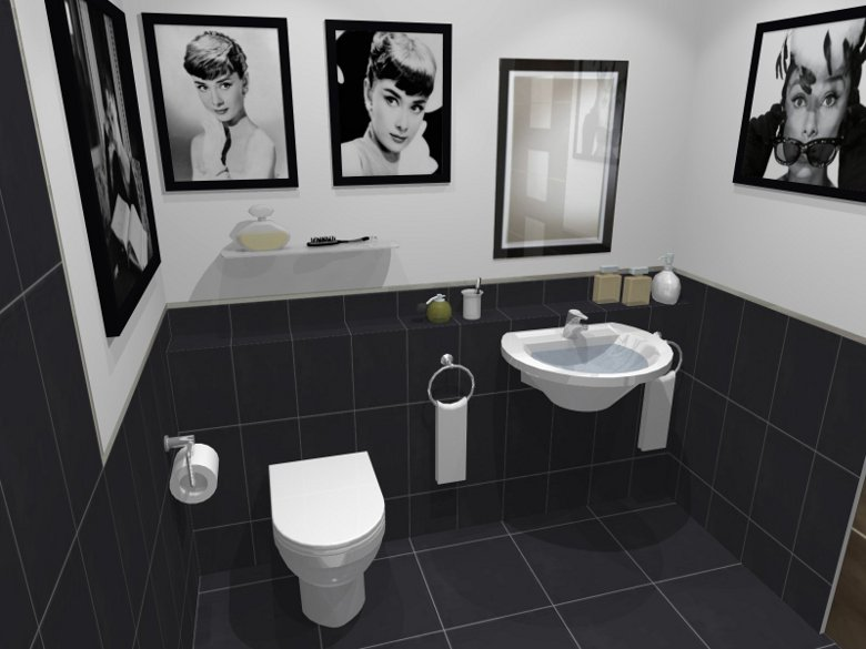 Dark Tiled Bathroom Toilet