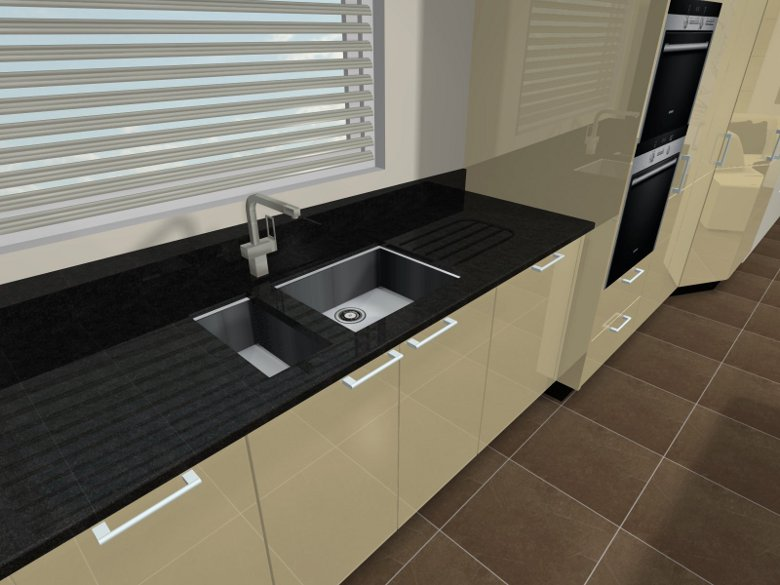 Beige Style Kitchen Sink Units